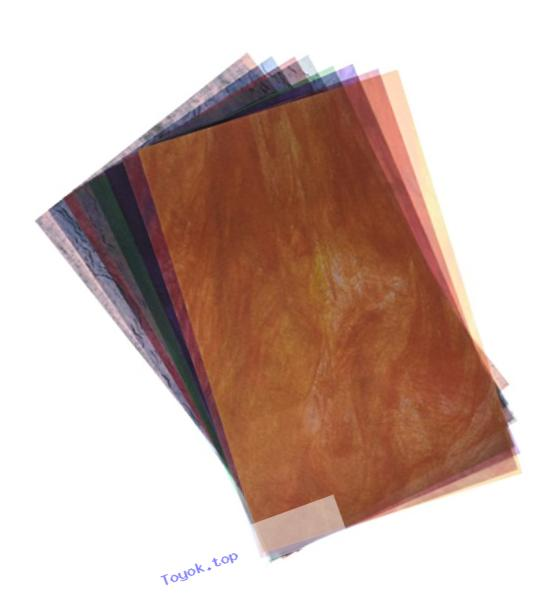 Roylco R15257 Stained Glassine Paper, 0.1