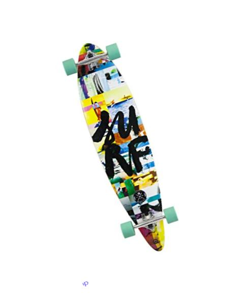 Quest Surf Mosaic High Performance Longboard, Multicolor, 42
