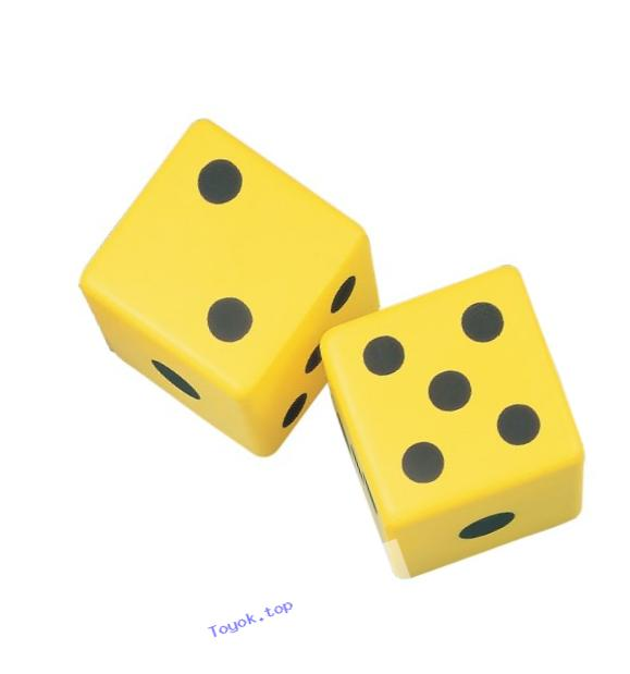 Champion Sports 6-Inch Coated Foam Dice