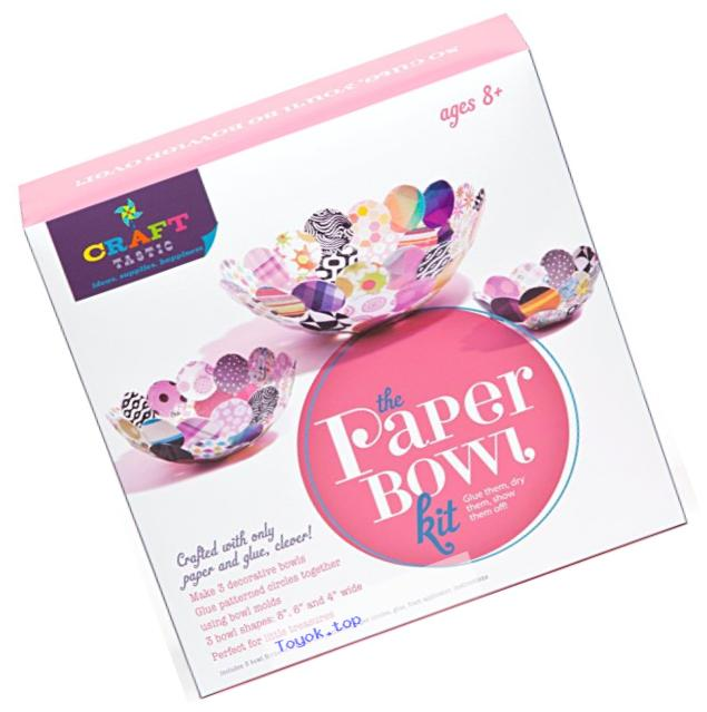 Craft-tastic Paper Bowl Kit - Craft Kit Makes 3 Different Sized Paper Bowls